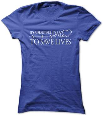 DAY Birger et Mikkelsen Gnarly Tees Women's It's A Beautiful to Save Lives T-Shirt XL