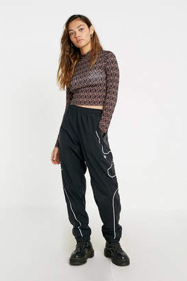 Urban Outfitters Geo Print Long-Sleeve Top
