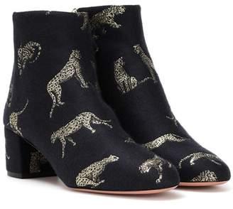 Aquazzura Brooklyn jacquard ankle boots