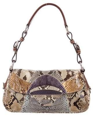 Prada Python Lock Shoulder Bag