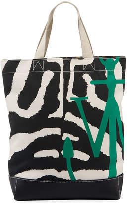 J.W.Anderson Animal-Print Twill Logo Tote Bag