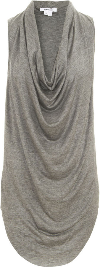 Helmut Lang Asymmetric Cowl Neck Top