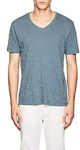 ATM Anthony Thomas Melillo Men's Slub Cotton T-Shirt - Blue