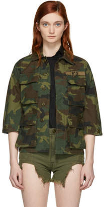 R 13 Green Camo Shrunken Abu Jacket