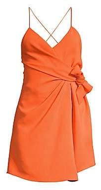 Alice + Olivia Women's Katie Tie Wrap Mini Dress
