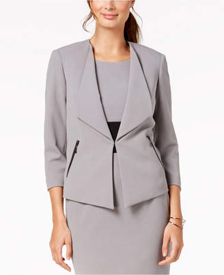 Kasper Wing-Lapel Jacket, Regular & Petite Sizes