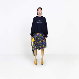 Balenciaga Fleece wool and cashmere crewneck sweater