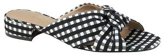 Banana Republic Gingham Knotted Crossover Slide