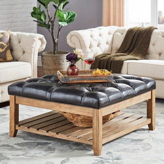 Homevance HomeVance Tufted Upholstered Coffee Table