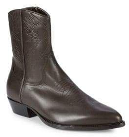 Valentino Point Toe Leather Cowboy Boots