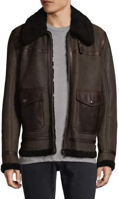 Belstaff Men's Templewood Shearling-Trimmed Leather Jacket