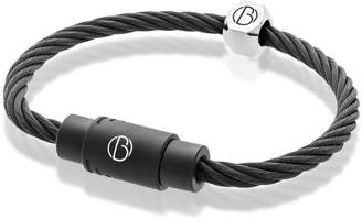 Bailey of Sheffield Personalised Stainless Steel Matte Black Cable Bracelet