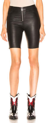 RtA Mona Leather Short in Nightlife 2 | FWRD