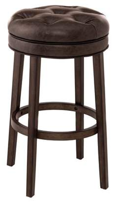Hillsdale Furniture Krauss Backless Swivel Bar Stool, Charcoal Gray Finish