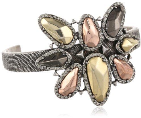 "House Of Harlow Black Diamond Aven Cuff Bracelet, 2.25"""