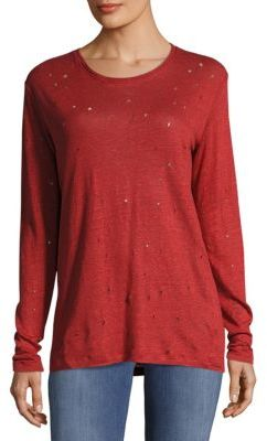 IRO Marvina Textured Linen Pullover