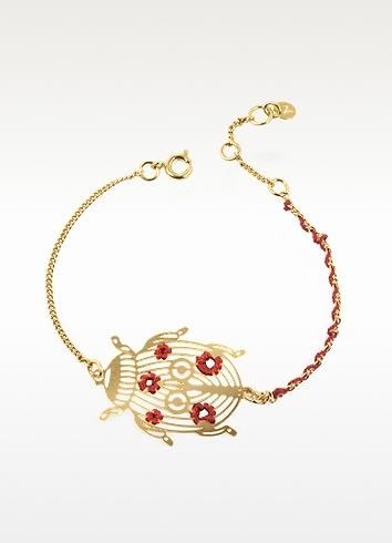 Les Nereides Ladybug Golden Bracelet
