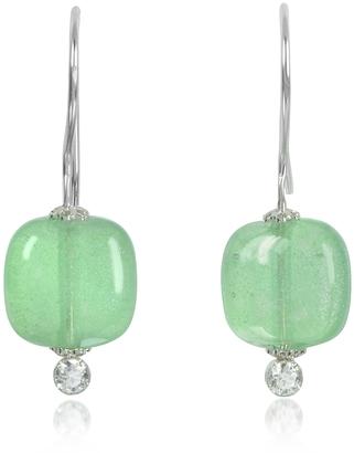 Antica Murrina Florinda Green Murano Glass Sterling Silver Earrings $49 thestylecure.com