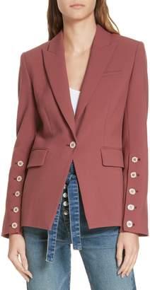 Veronica Beard Fogg Button Sleeve Dickey Jacket