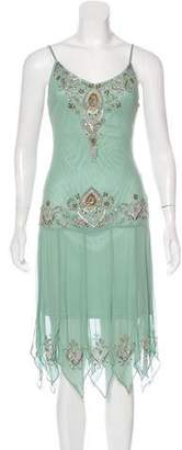Sue Wong Silk Embellished Dress