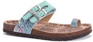 Muk Luks Womens Daisy Adjustable Strap Flat Sandals