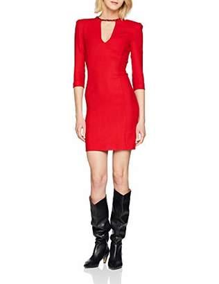 Pinko Women's Giorgio Abito Doppio DI Lana Dress, (Rosso Puro R43), UK