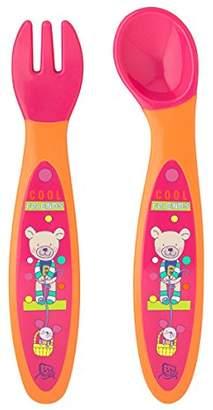 Rotho Babydesign Cool Friends First Cutlery Set (Raspberry/Mandarin)