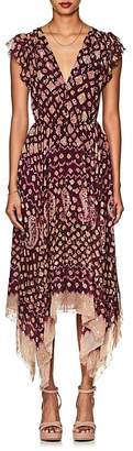Ulla Johnson Women's Aurelie Silk-Blend Fil Coupé Asymmetric Dress