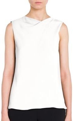 Giorgio Armani Sleeveless Silk Blouse $1,695 thestylecure.com