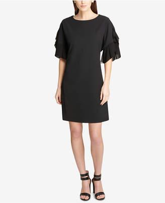 DKNY Chiffon-Sleeve Shift Dress, Created for Macy's