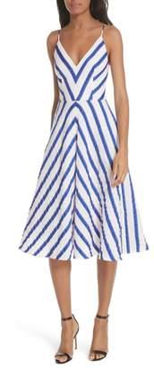 Milly Stripe Washed Linen Blend Sundress