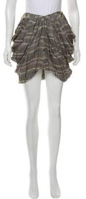 Opening Ceremony Rodarte x Plaid Pleated Skirt Grey Rodarte x Plaid Pleated Skirt