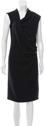 Helmut Lang Surplice Buckled Dress