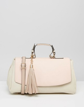 Oasis Contrast Tote Bag $57 thestylecure.com