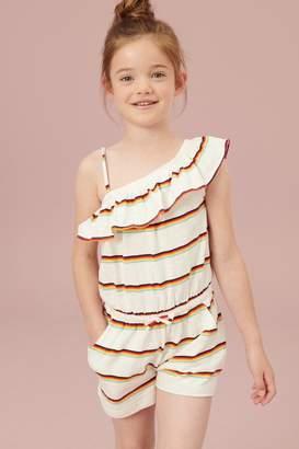 Next Girls Rainbow Ruffle Playsuit (3-16yrs) - White