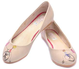 Goby Printed Faux Leather Ballet Flat