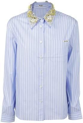 Miu Miu Embellished Collar Shirt