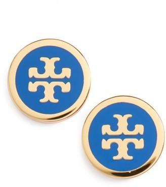 Women's Tory Burch Logo Stud Earrings $75 thestylecure.com