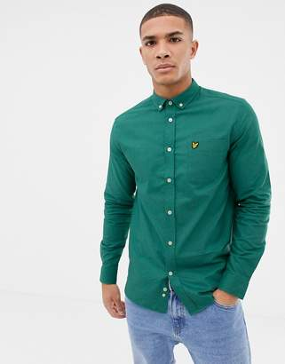 Lyle & Scott long sleeve oxford shirt in green