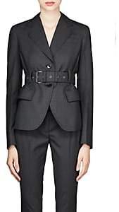 Prada Women's Worsted Wool Belted Blazer - Gray