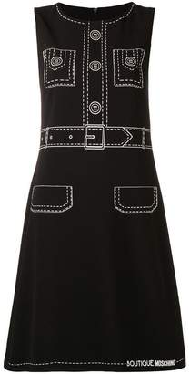 Moschino tromp l'oeil sleeveless dress