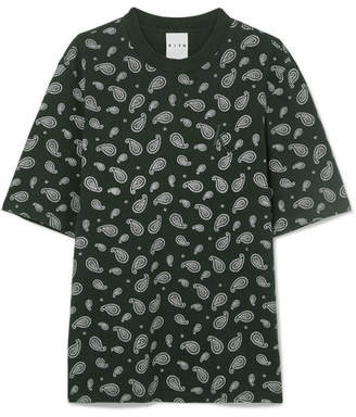 Kith Heavy Mei Oversized Embroidered Printed Cotton-jersey T-shirt