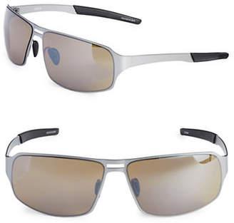 Izod 67mm Metal Sport Wrap Sunglasses