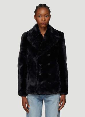 Saint Laurent Faux Fur Jacket in Black
