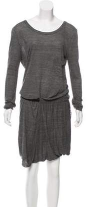 A.L.C. Long Sleeve Midi Dress Grey Long Sleeve Midi Dress