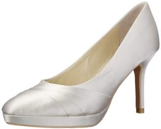 Menbur Wedding Women's Amina Court Shoes Ivory Elfenbein (Ivory 04) Size: (7.5 Damen UK)