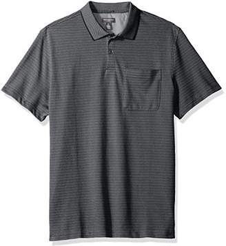 Van Heusen Men's Flex Short Sleeve Jacquard Stripe Polo Shirt