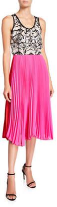 Loyd/Ford Mixed Silk Pleated Tank Dress