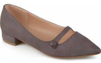Co Brinley Womens Pointed Toe Faux Leather Flats