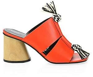 Proenza Schouler Women's Rope-Detail Block Heel Mule Sandals